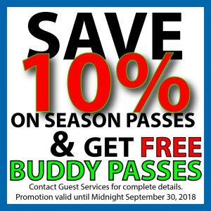Save 10% on Season Passes